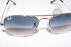 RayBan #RB3025 Avaitor Large Metal  Brand New (#Replica)  PKR 2699   Brand Name: Ray Ban  #Gender: #Unisex  Frame Color: Silver  Frame Meterial: Stainless Steel High Quality Frame Type: Full Frame #Aviator  Lens: Unbreakable  Lens Color: Gradient Blue Lens  Width: 55mm  Bridge Width: 14mm  #ovaismobinsunglasses