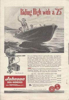 1953 Johnson Outboard Motors Ad