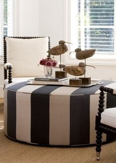 Love this ottoman from Briggs Edward Design.