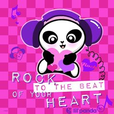 Lil'panda Rock to the beat of your heart! The cutest little kawaii panda for kids. www.lilpanda.com