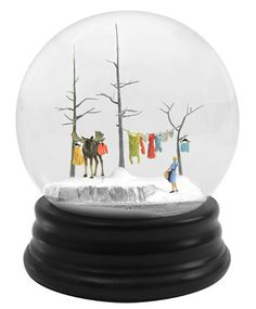 Travelers: Snow Globes by Walter Martin and Paloma Munoz