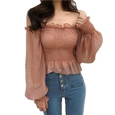 summer womens fashion Image# 54 - Outfit inspo & Ideas - New Fashion Looks blouse summer blouse style blouse ideas Korean Girl Fashion, Ulzzang Fashion, Cute Casual Outfits, Pretty Outfits, Mein Style, Creation Couture, Korean Outfits, Look Chic, Pulls