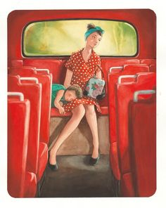 Illustration Art Dessin, Illustrations, Bus Art, Chiaroscuro, Mother And Child, Les Oeuvres, Disney Characters, Fictional Characters, Watercolor