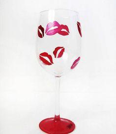 read my lips wine glass – lip imprints. LOVE!!!!!!