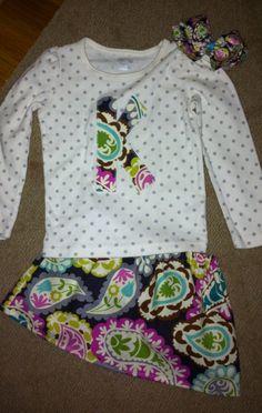 cute shirt and skirt!