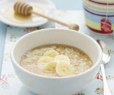 Rezept: Haferbrei mit Banane und Honig
