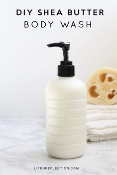 Homemade Body Wash: Ingredients ½ cup shea butter 1 tablespoon apricot oil 1 tablespoon aloe vera gel 2 tablespoons vegetable glycerin 3 drops spearmint essential oil 6 drops bergamot essential oil 3 drops vetiver essential oil 1 cup liquid castile soap 1 pump dispenser 16 oz bottle Homemade Body Wash, Diy Body Wash, Homemade Skin Care, Homemade Beauty, Diy Skin Care, Diy Products, Homemade Products, Cleaning Products, Beauty Products