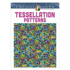 Adult Coloring Books. #stressrelief Tessellation Patterns Coloring Book