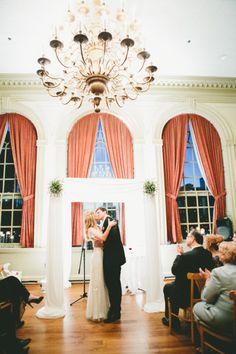In major part because their wedding captured by onelove photography is the perfect amount of city chic and a healthy dose of gorgeous fashion; Wedding Renewal Vows, Pipe And Drape, Aisle Style, 25th Wedding Anniversary, Philadelphia Wedding, Industrial Wedding, Little White, City Chic, Blue Nile