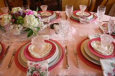 Pink Tablescape for Mother's Day