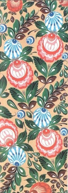 Folk Gorodets painting from Russia. Floral pattern. #art #folk #painting…