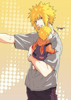 This is cute! Minato & Naruto <3