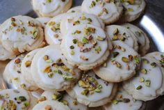 Aren't these cookies so pretty? As I was flipping through my cookbook, I stopped on this recipe for Iced Lemon Pistachio Cookies because I thought they were so festive with the flecks of green from the pistachios. I also wanted a citrus cookie to balance out all the other chocolate cookies from cooking baking day. …