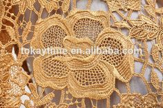 Gold Lace Fabric, Metallic Lace, French Lace, African Fabric, Gold Wedding