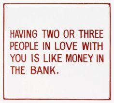 jenny holzer love money