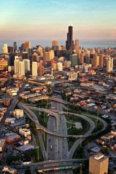 Chi-Town - Chicago by air. Pinned by #CarltonInnMidway - www.carltoninnmidway.com