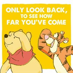 Only look back...