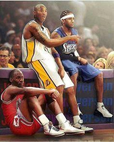 Michael Jordan, Kobe Bryant, and Allen Iverson