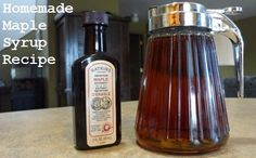 Recipe for homemade maple syrup. Easy to make, inexpensive (costs pennies to make), and great taste too! #recipes #syrup