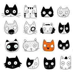 Little doodle of cats. Which is you? Little doodle of cats. Which is you? Doodle Drawings, Animal Drawings, Doodle Art, Easy Drawings, Cute Cat Memes, Cute Cat Gif, Funny Cats, Tier Doodles, Cute Cat Drawing