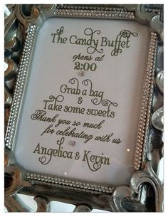The Candy Buffet Sign More Table Signs