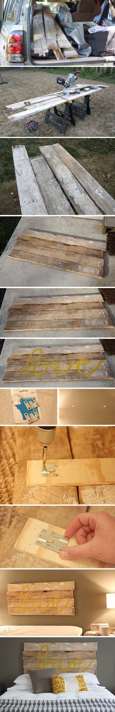 repurpose old fence boards