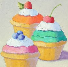 Cupcake Trio by Pat Doherty