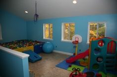 therapy room inc slide and ballpit