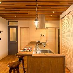造作キッチン/男前/注文住宅/minerbase/journal standard Furniture/カリフォルニアスタイル…などのインテリア実例 - 2017-02-04 09:42:51 | RoomClip(ルームクリップ) Natural Interior, Dim Lighting, Japanese House, Hostel, Kitchen Interior, Home Kitchens, House Design, Dining, Storage