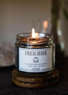 Stolen Hoodie Candle - Smells Like Cologne, Cedar & Chill Mode - Stolen Hoodie Candle – Evil Queen – Unique Candles – Fun Candle – Always Fits - Unique Candles, Best Candles, Handmade Candles, Fall Candles, Luxury Candles, Design Thinking, Funny Candles, Perfume Diesel, Ideas