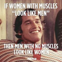 "If women with muscles ""looks like men"" then men with no muscles look like women. Visit www.prozis.com for more information on bodybuilding and sports nutrition"