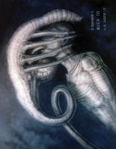 """'Alien' Turns 35: H.R. Giger's 'Alien' Art: An early look at the notorious """"facehugger"""" alien."""