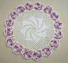 Ravelry: Garland - Rose Doily pattern by Priscilla Doilies Crochet Doily Patterns, Thread Crochet, Crochet Doilies, Crochet Lace, Free Crochet, Crochet Ideas, Crochet Dishcloths, Pansies, Household Items