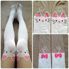 I seriously need these kitty tights in my life!