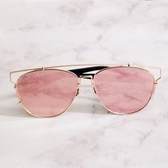 Accessories | Rose gold aviators Brand new never worn // pic 2 shows another different style also available in my Kloset. Please comment if you'd like to be tagged in the listing for that one, as sale price is for 1 item and not both. This listing is for The Aviator Style with black stems as shown in each picture. Accessories Sunglasses