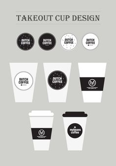 coffee   takeout cup design  package design