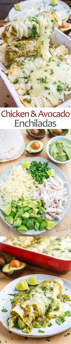 Chicken and Avocado Enchiladas • This pin brought to you by, Lisa Miguel, Realtor with West USA Realty. www.lisamiguel.com