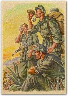 print of german mountain troops