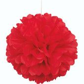 Red Honeycomb Hanging Decoration Puff Ball