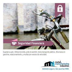Si vives cerca de donde trabajas ve en bicicleta, además de ejercitarte y mejorar tu salud, ahorrarás dinero. #SeguridadFinanciera