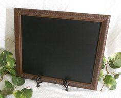 Framed Chalkboard framed chalk board kitchen by PegsSecondChance, $30.00