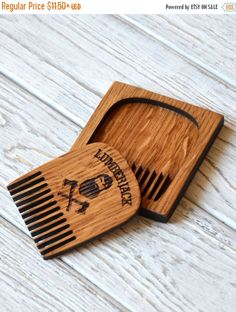 Lumberjack Beard Comb Personalized Custom Engraved Wooden For Men Him Mustache Hair Kit Accessories Christmas