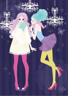 HONEY * チバサトコ ガールズイラストレーションギャラリー * Girly art