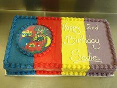 Wiggles birthday cake Wiggles Birthday, Wiggles Party, Birthday Cupcakes, 2nd Birthday Parties, 4th Birthday, Wiggles Cake, Baked Goods, Ash, Cupcake Cakes
