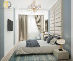 Дизайн серо-бежевой спальни в современном стиле