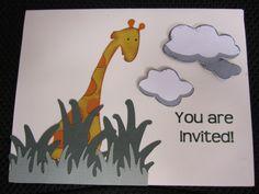 Custom Baby Shower Card #cricut