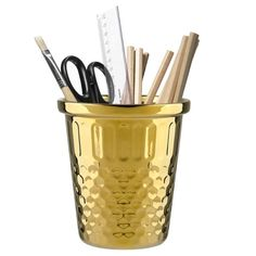 Giant Thimble Tidy - Gold - metallic storage pot -paint a clay pot and use for storage...