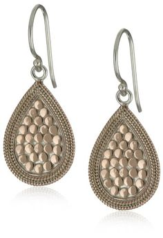 "Anna Beck Designs ""Gili"" 18k Rose Gold-Plated Teardrop Earrings"