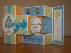 Open Tri-shutter Birthday by rbright - Cards and Paper Crafts at Splitcoaststampers