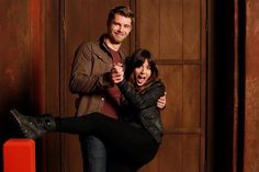 Skye and Lincoln. Chloe Bennet and Luke Mitchell. Agents of SHIELD behind the scenes.